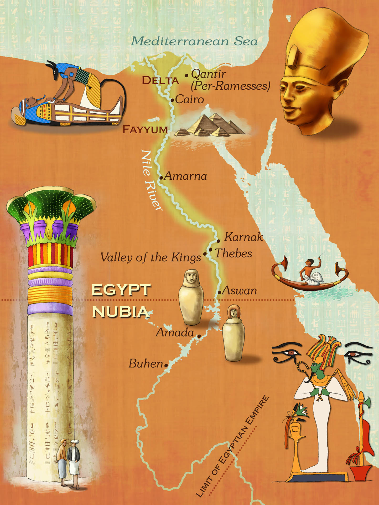 Ancient Egypt Map • Dig Magazine