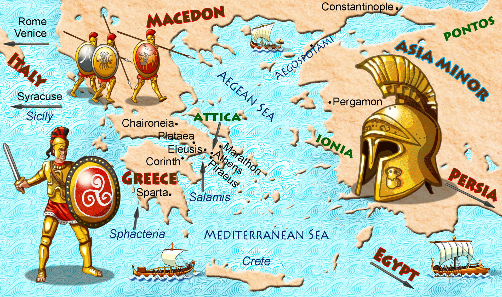 Map of Ancient Greece • Dig Magazine