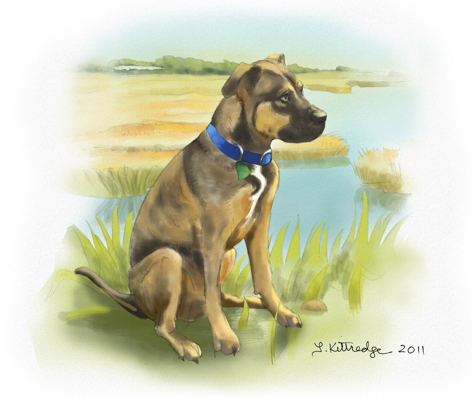 Bubba Dog Painting • Commission