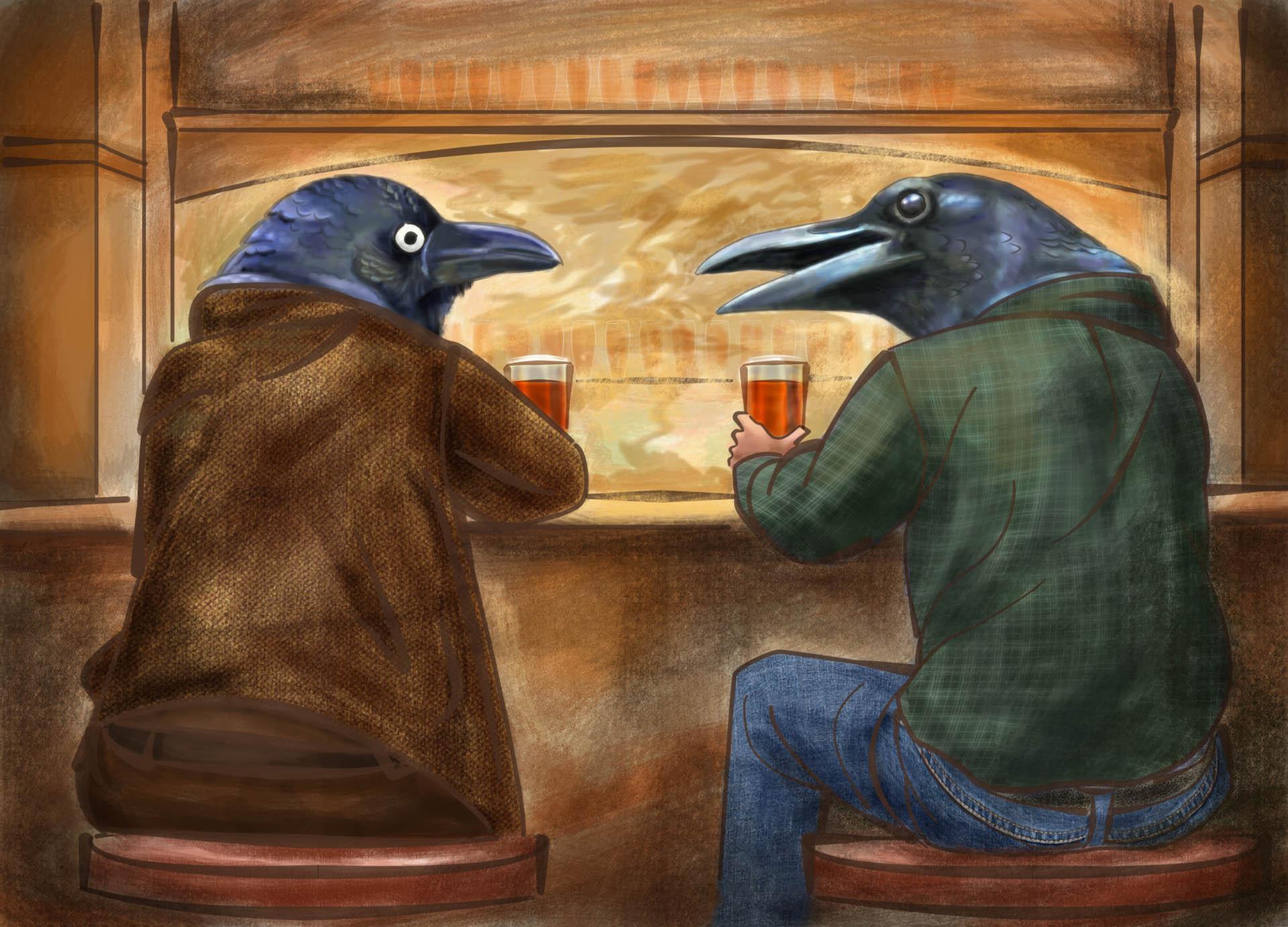 Crow Bar Illustration • Personal Work