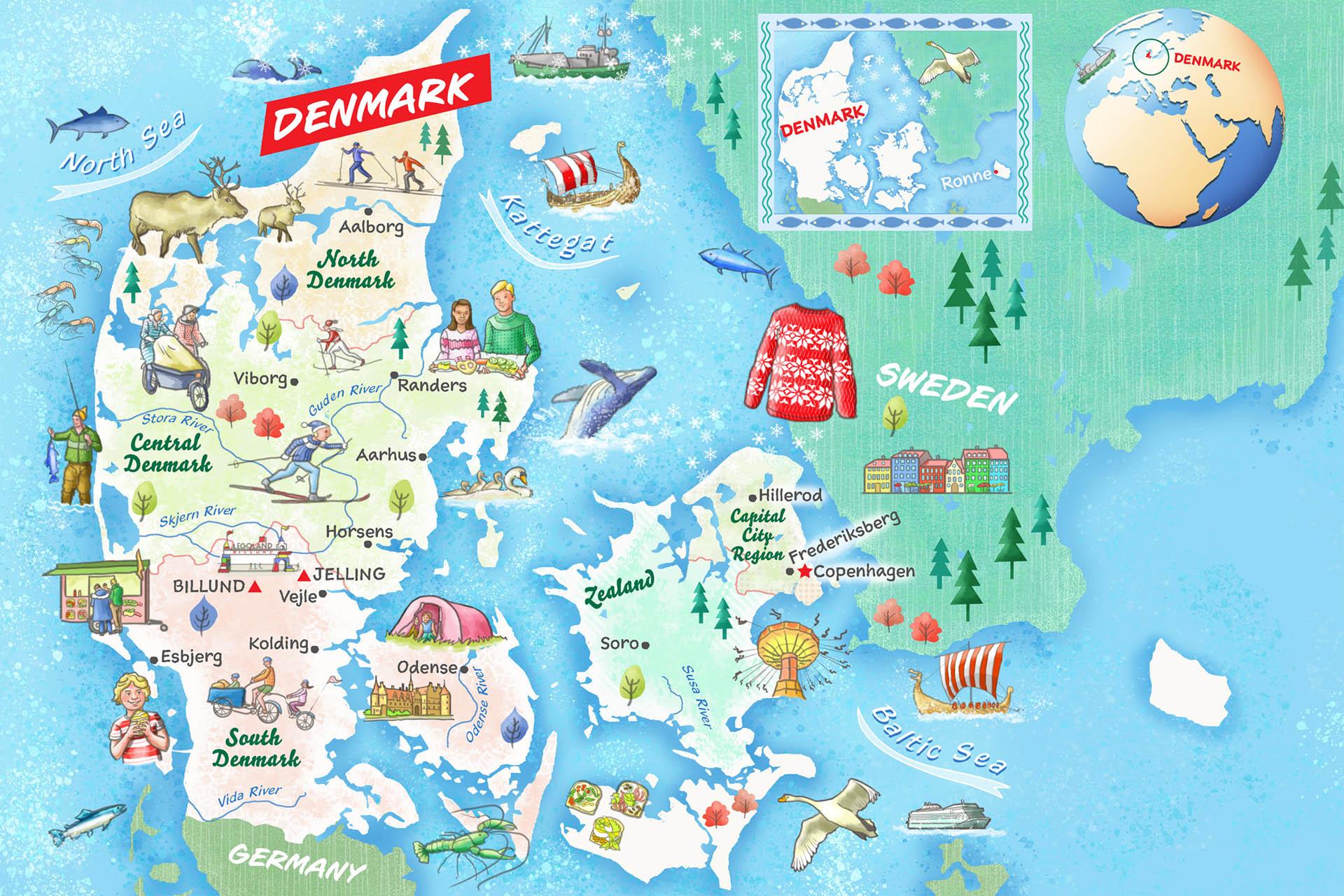 Denmark Map • Faces Magazine
