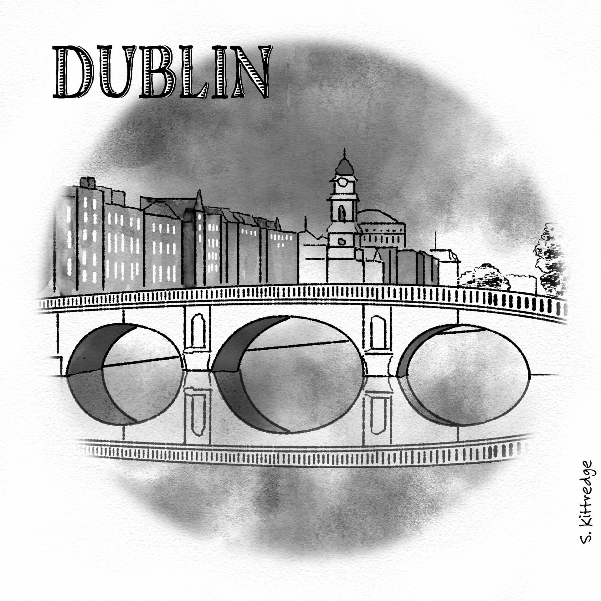Dublin Inktober Illustration 2020 • Project: They Draw & Travel