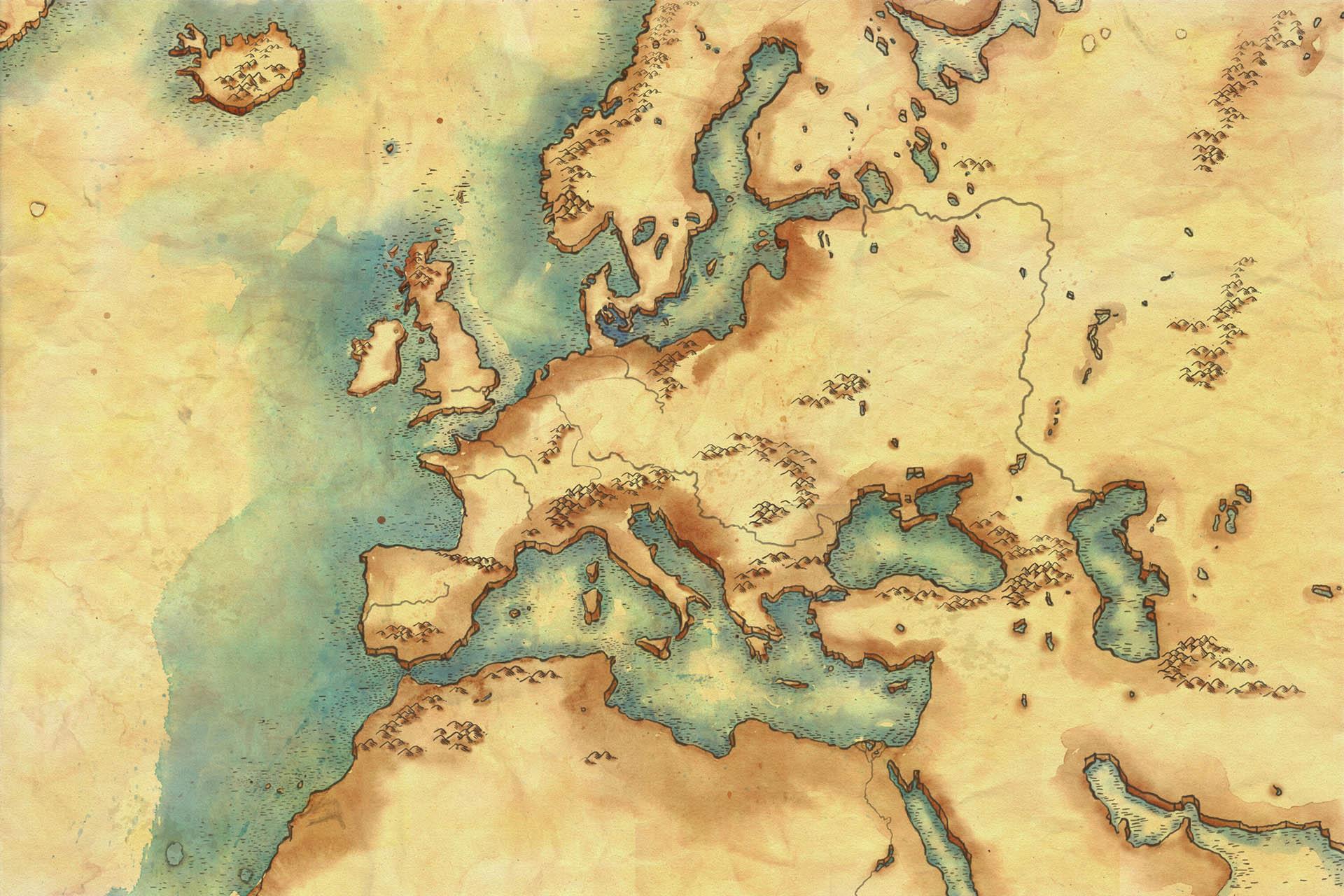 Europe Fantasy Map • Board Game