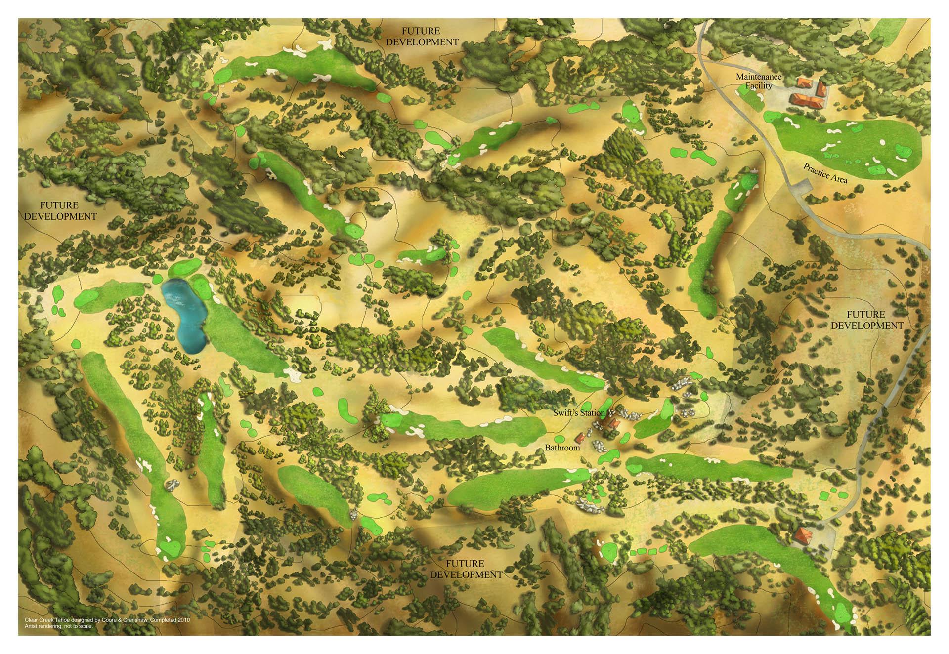 Golf Course Map • Clear Creek Tahoe Resort