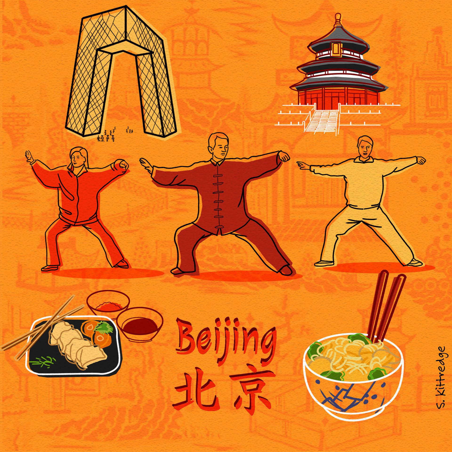 Beijing Inktober Illustration 2020 • Project: They Draw & Travel