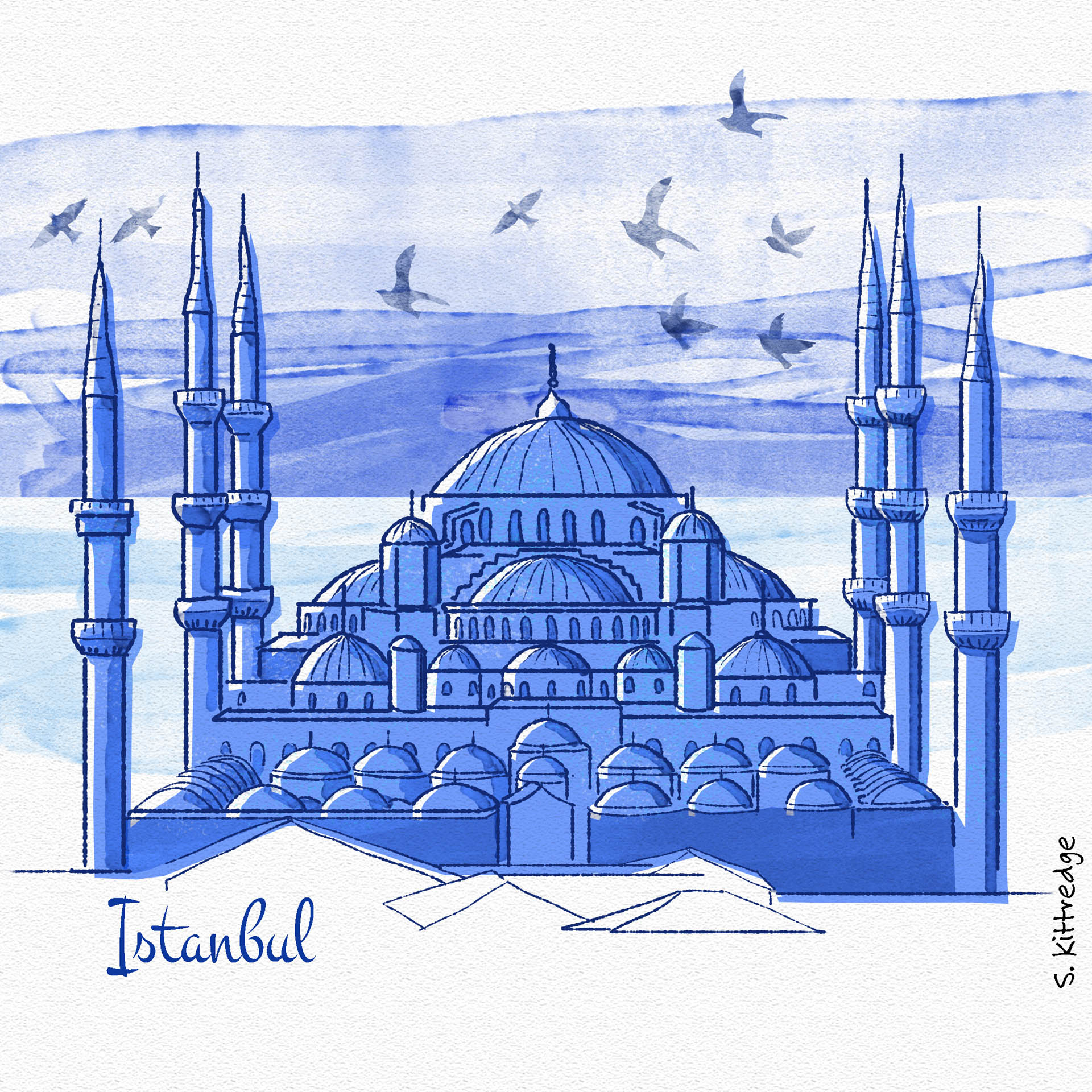 Istanbul Inktober Illustration 2020 • Project: They Draw & Travel