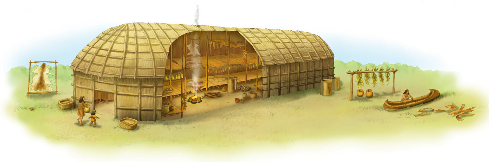 Longhouse Illustration • Pearson USA