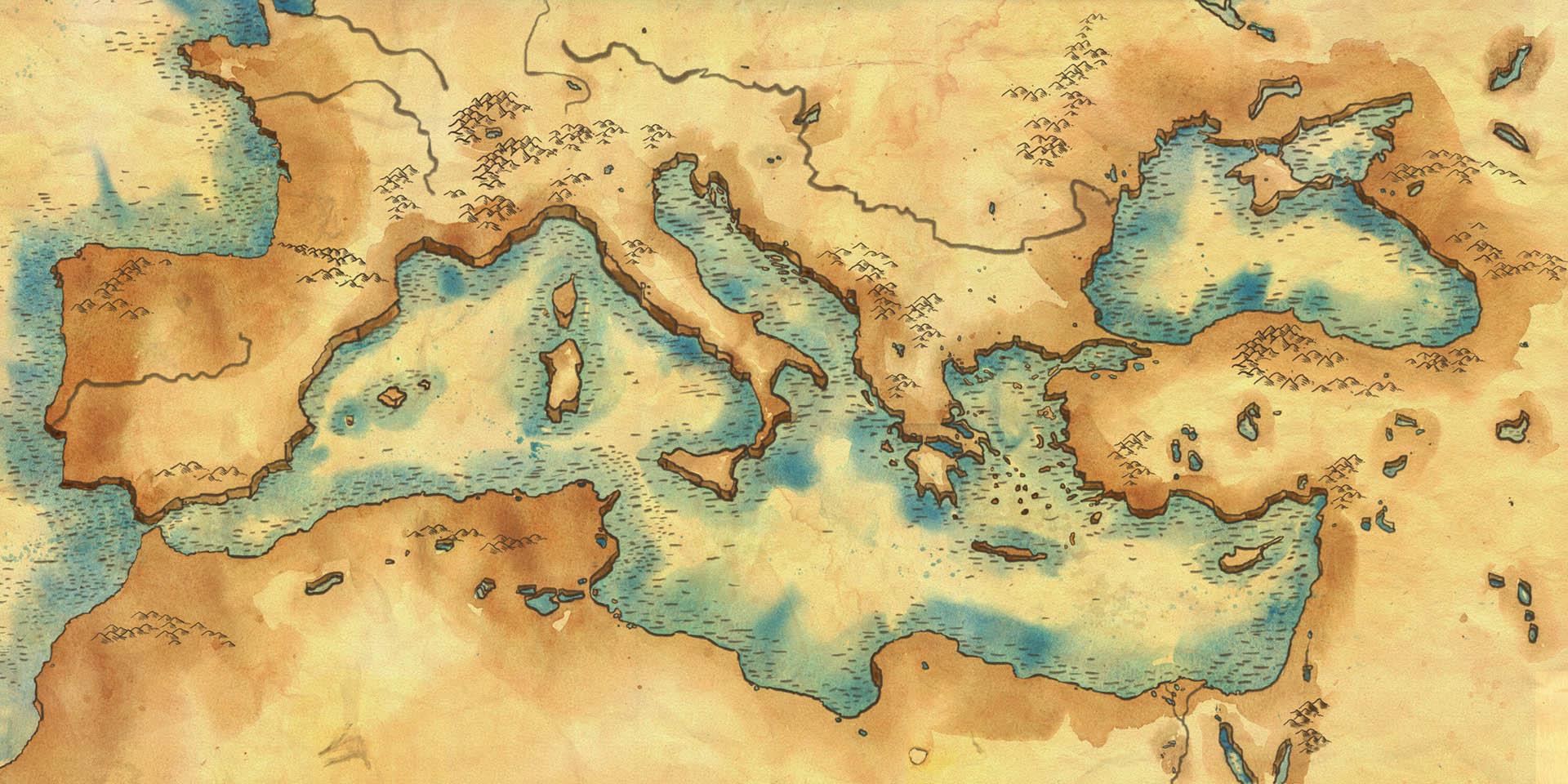 Mediterranean Basin Map • Board Game