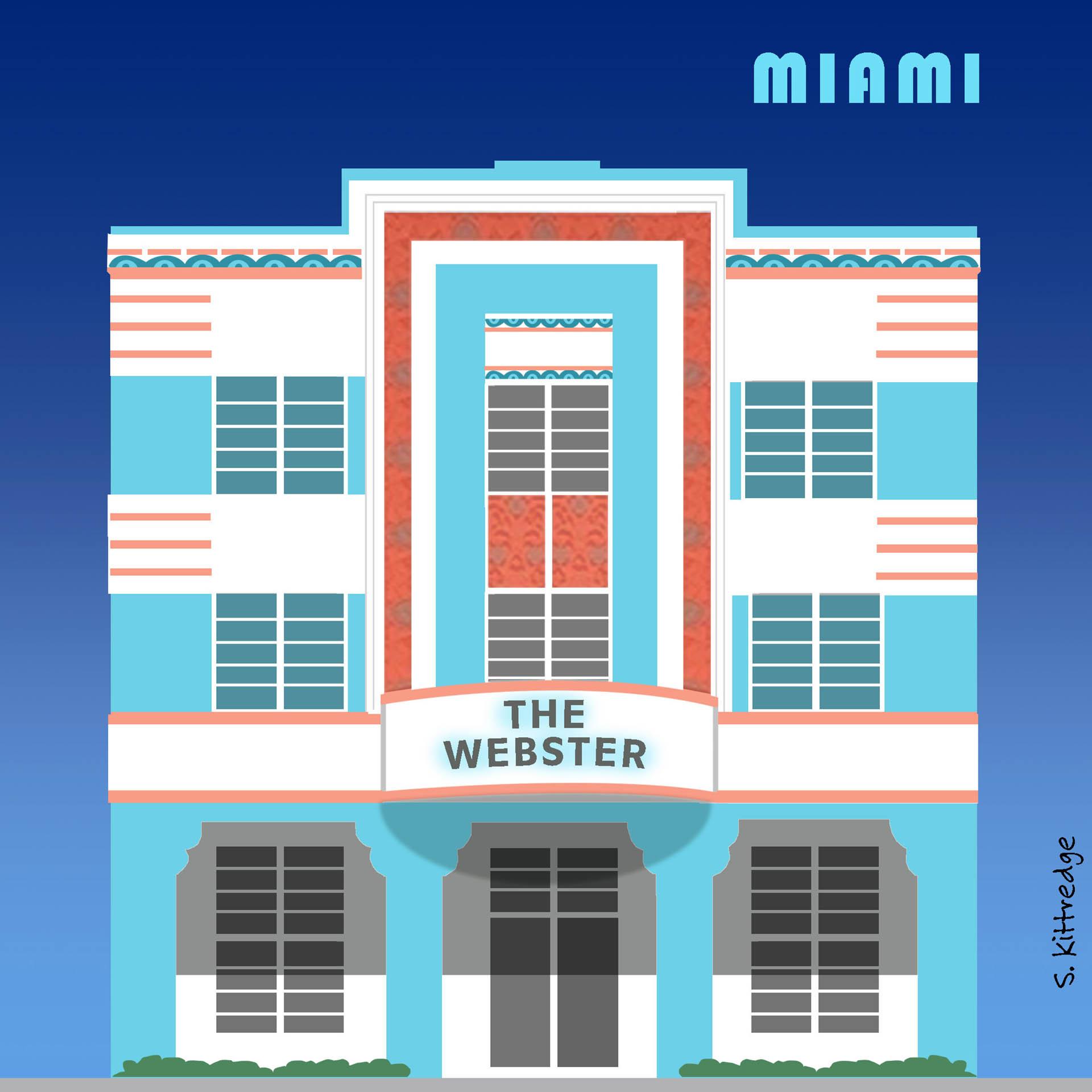 Miami Inktober Illustration 2020 • Project: They Draw & Travel
