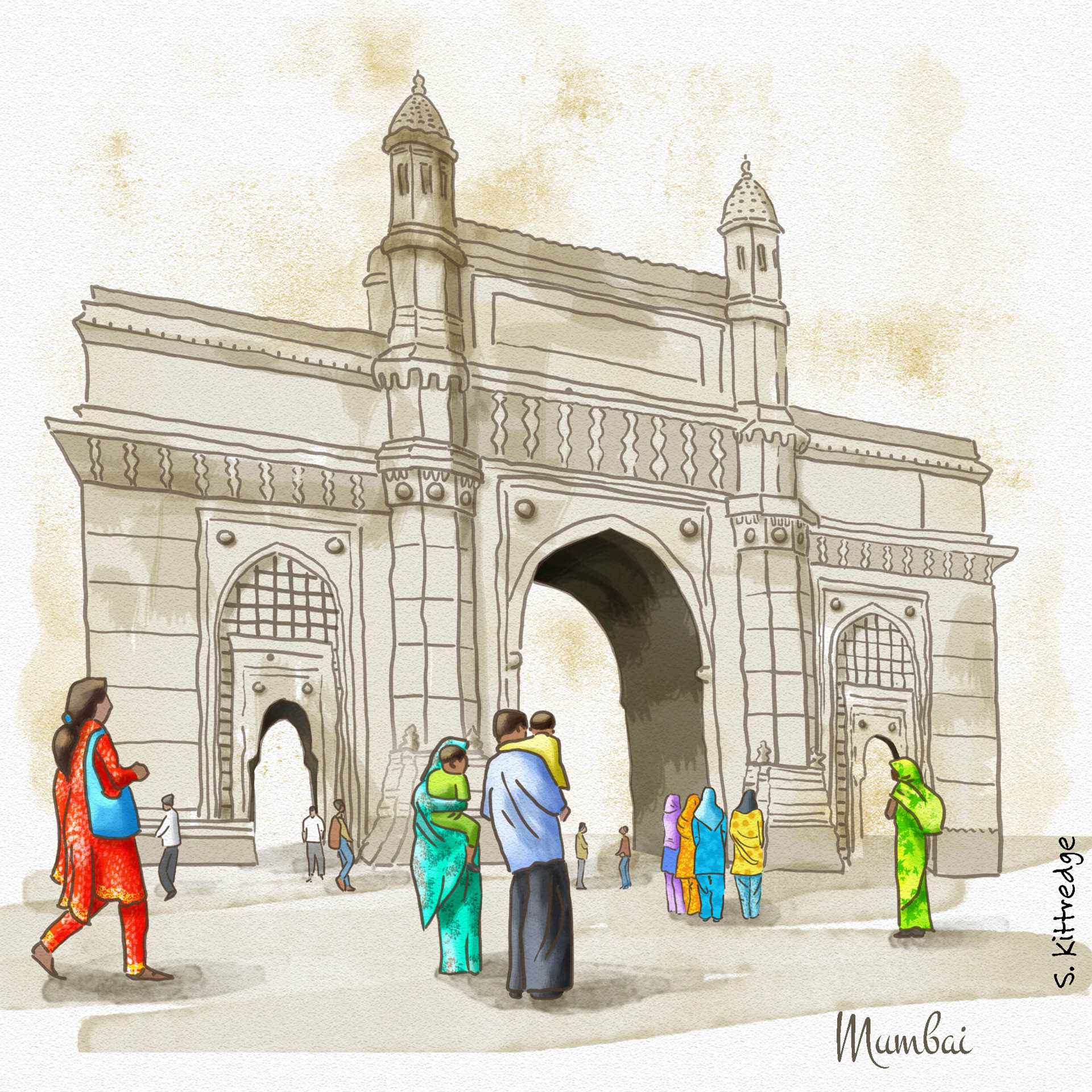 Mumbai Inktober Illustration 2020 • Project: They Draw & Travel