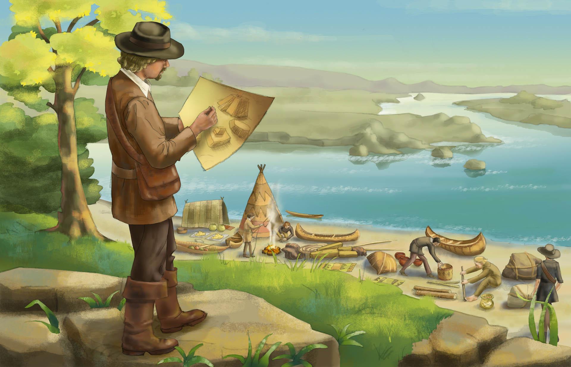 Natchez Indian Camp Illustration • Pearson USA