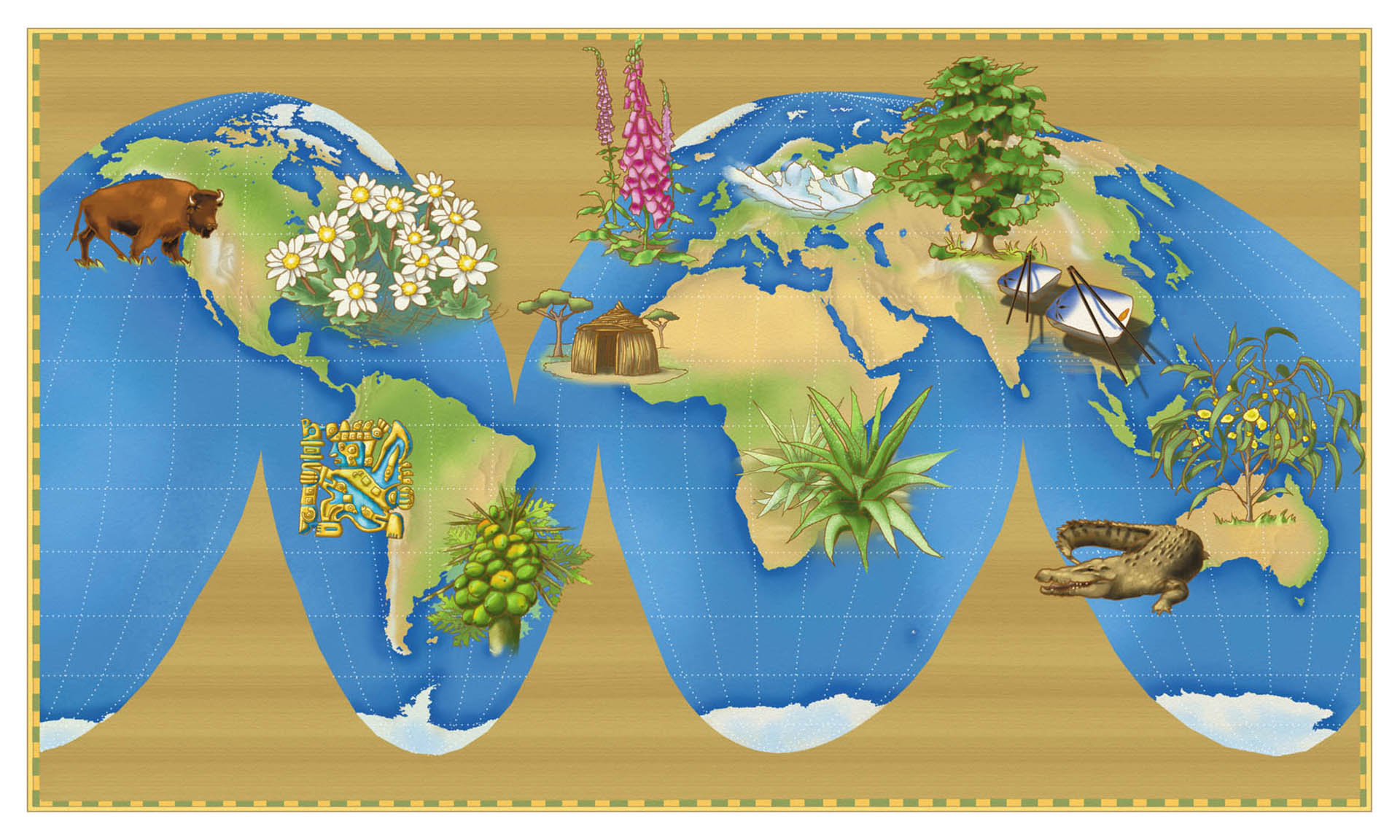 Map of the Origins of Plant Medications • Herb Lifestyle Magazine