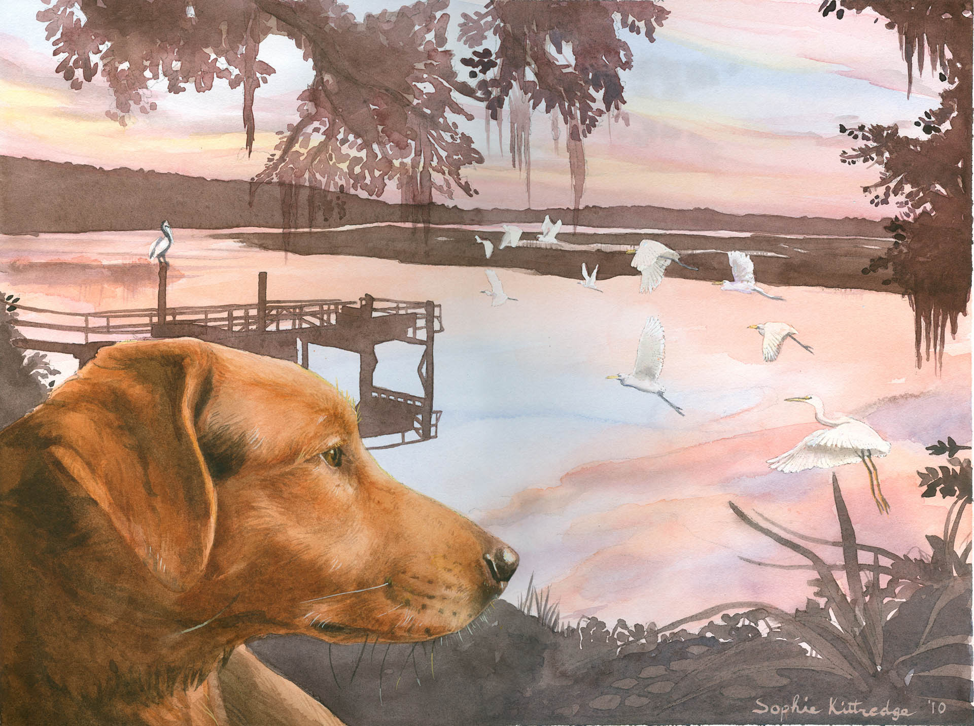 Rusty at Lucy Creek Dog Painting • Personal Work
