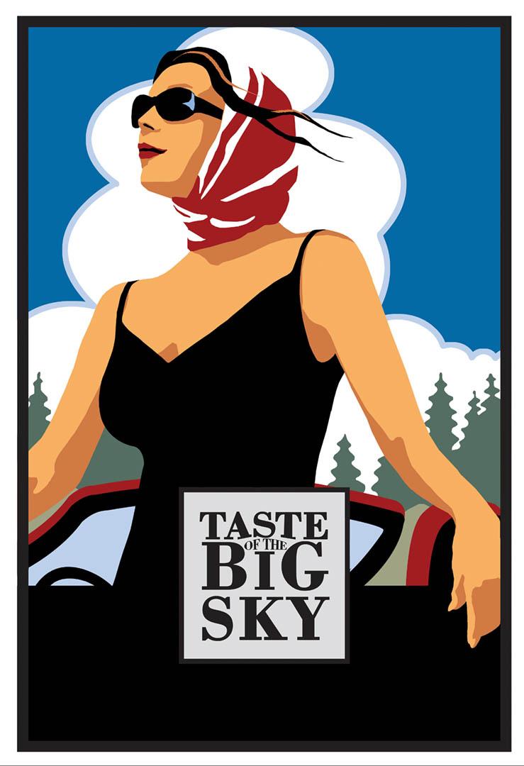Taste of the Big Sky • Missoula River Festival Poster