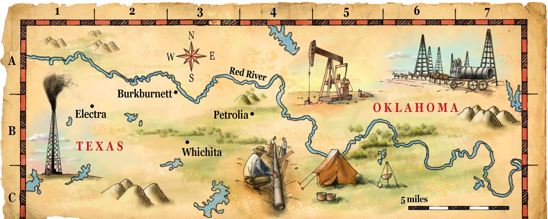 Texas Oil Map • Pearson USA