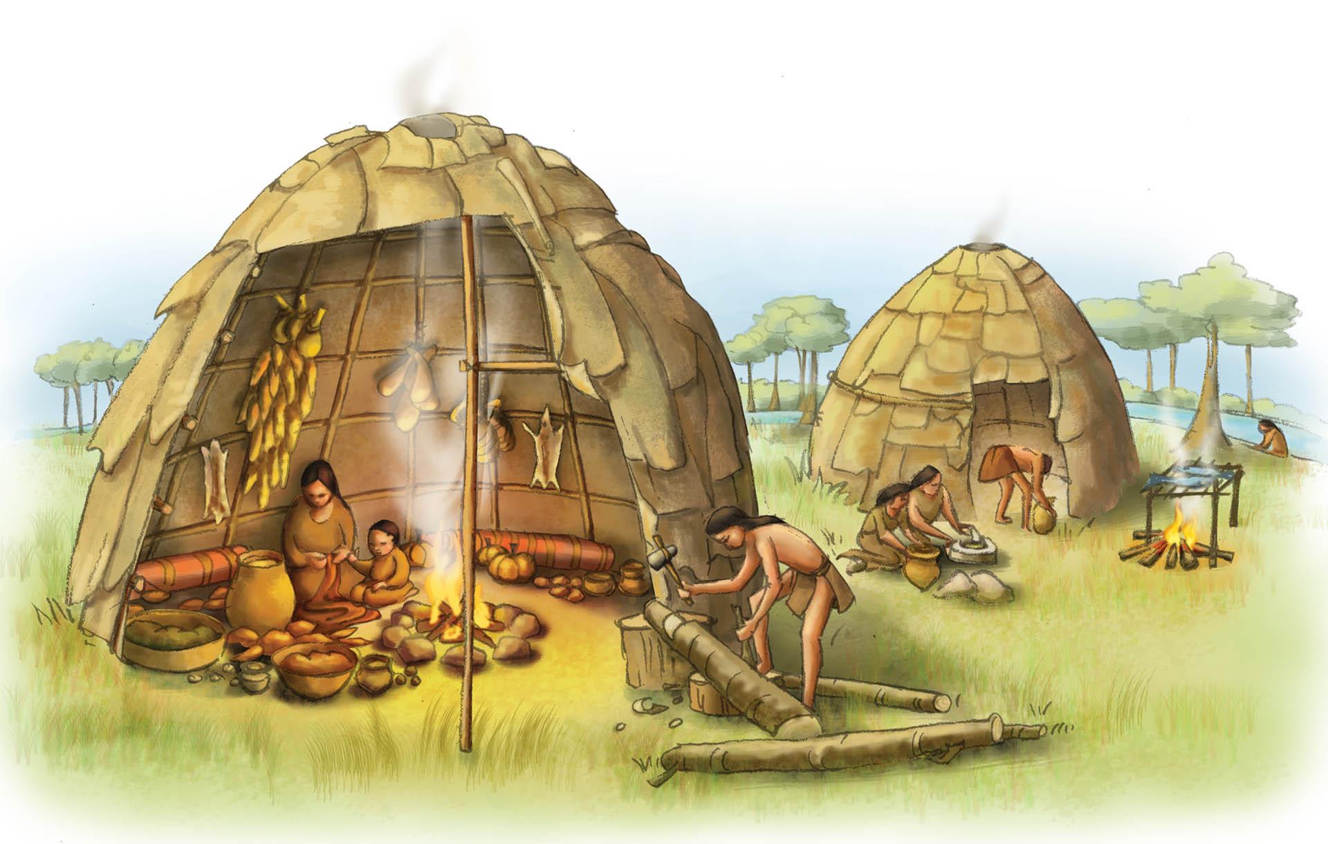 Woodland Native Americans Illustration • Pearson USA