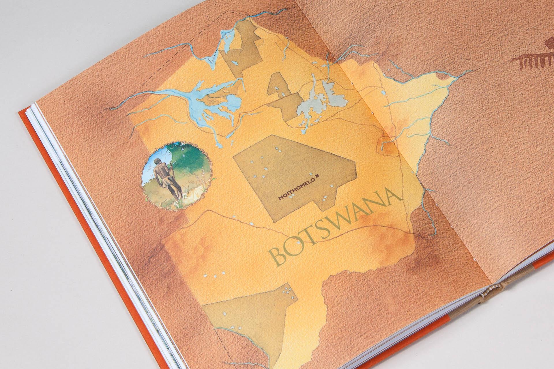Map Illustration • Kalahari Bushmen Healers Book Ringing Rock Press