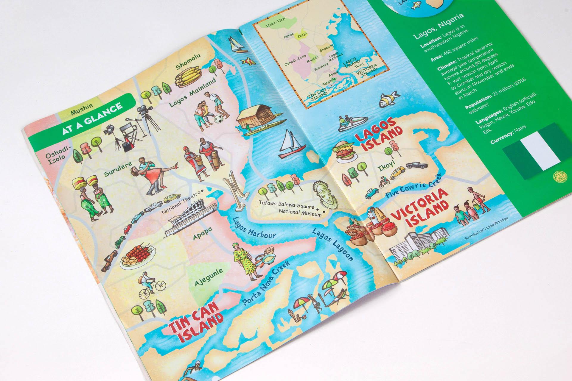 Map of Lagos • Faces magazine