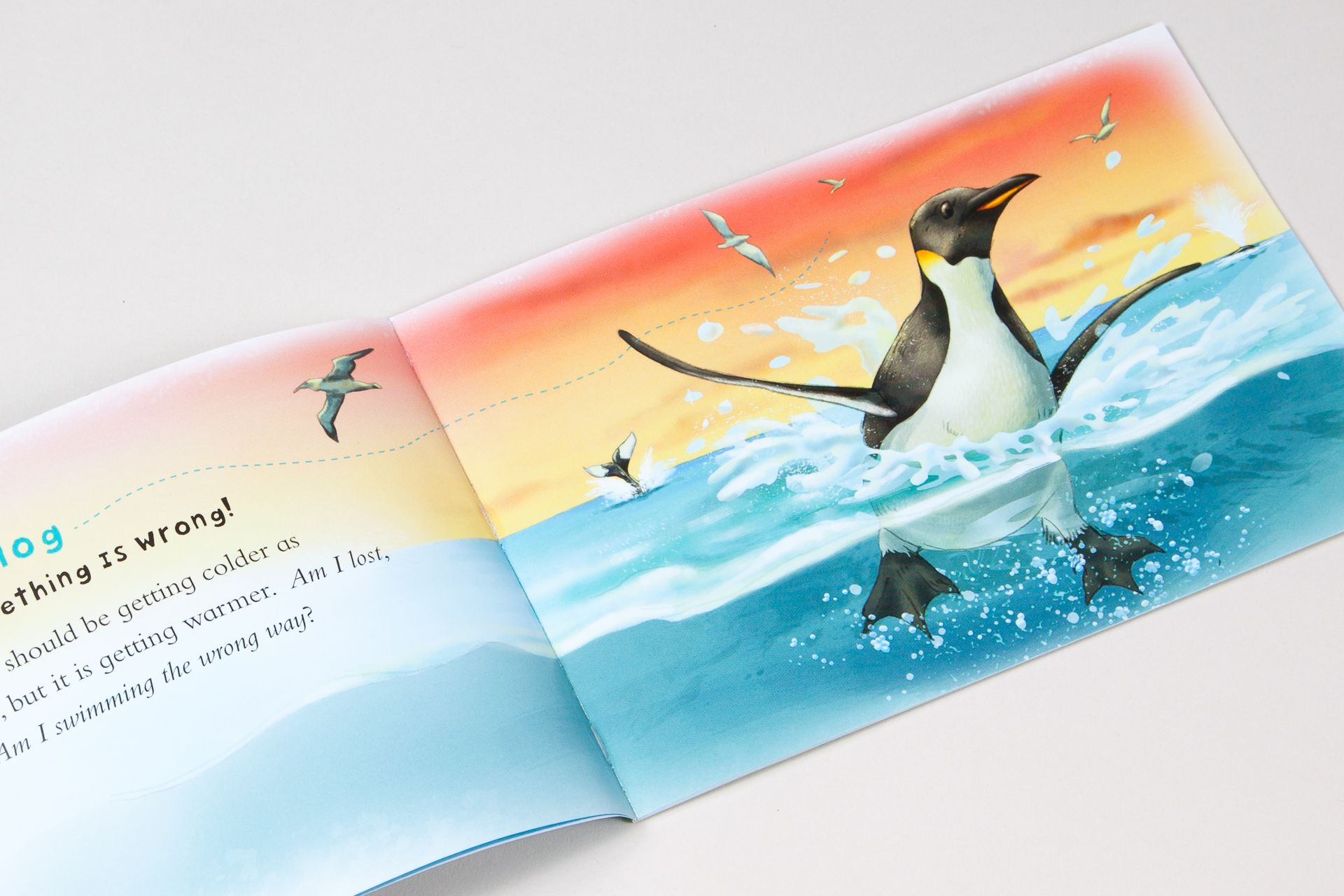 Interior illustration for The Lonely Penguin's Blog book • Teacher Created Materials
