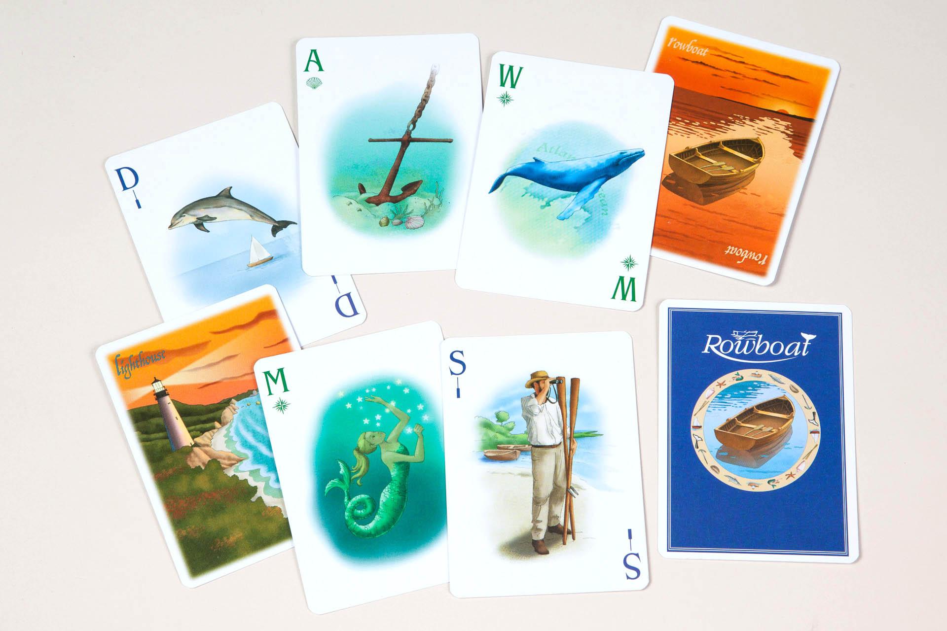 Rowboat card game illustrations • Moostache Games