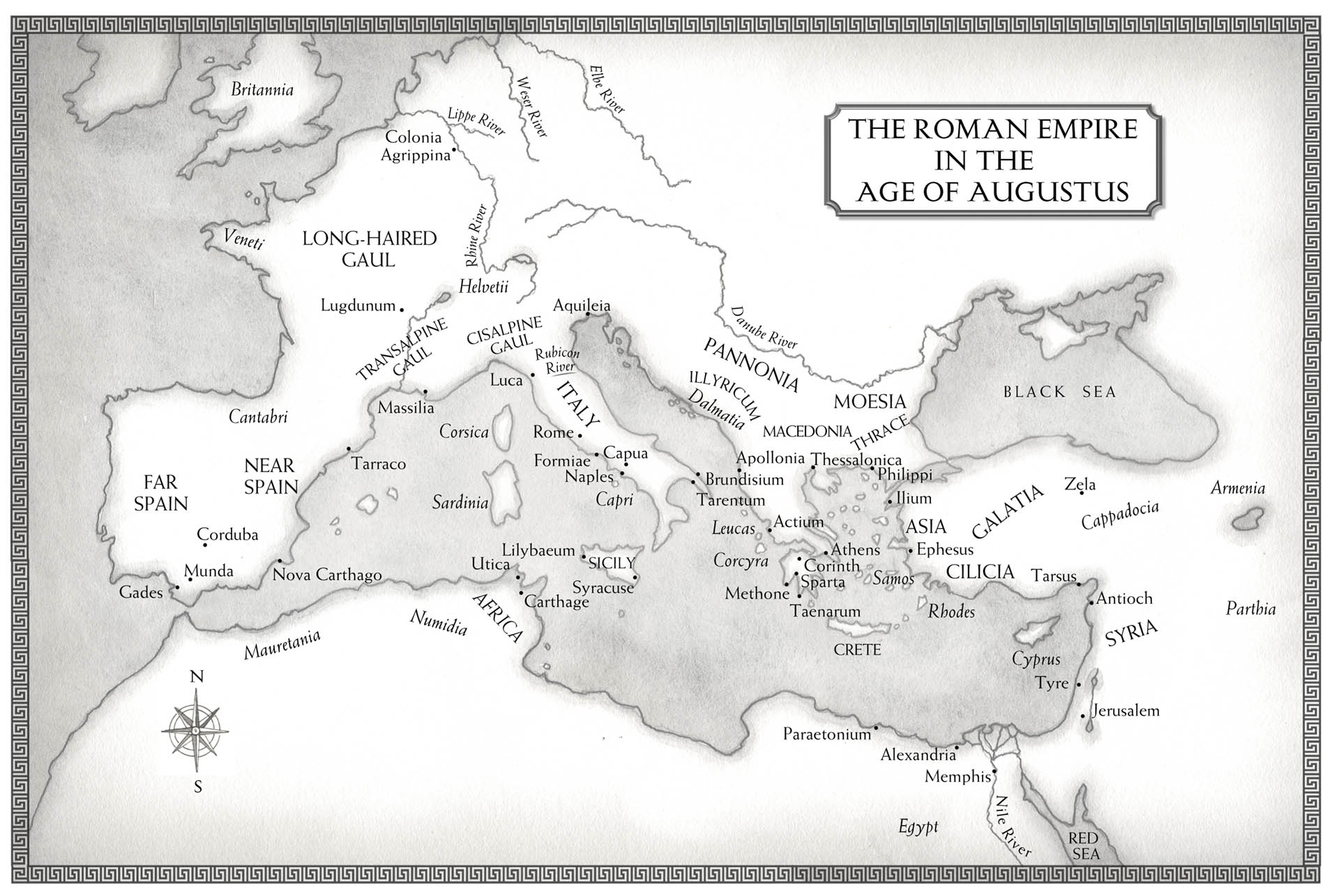 Age of Augustus Map • The Crown Publishing Group