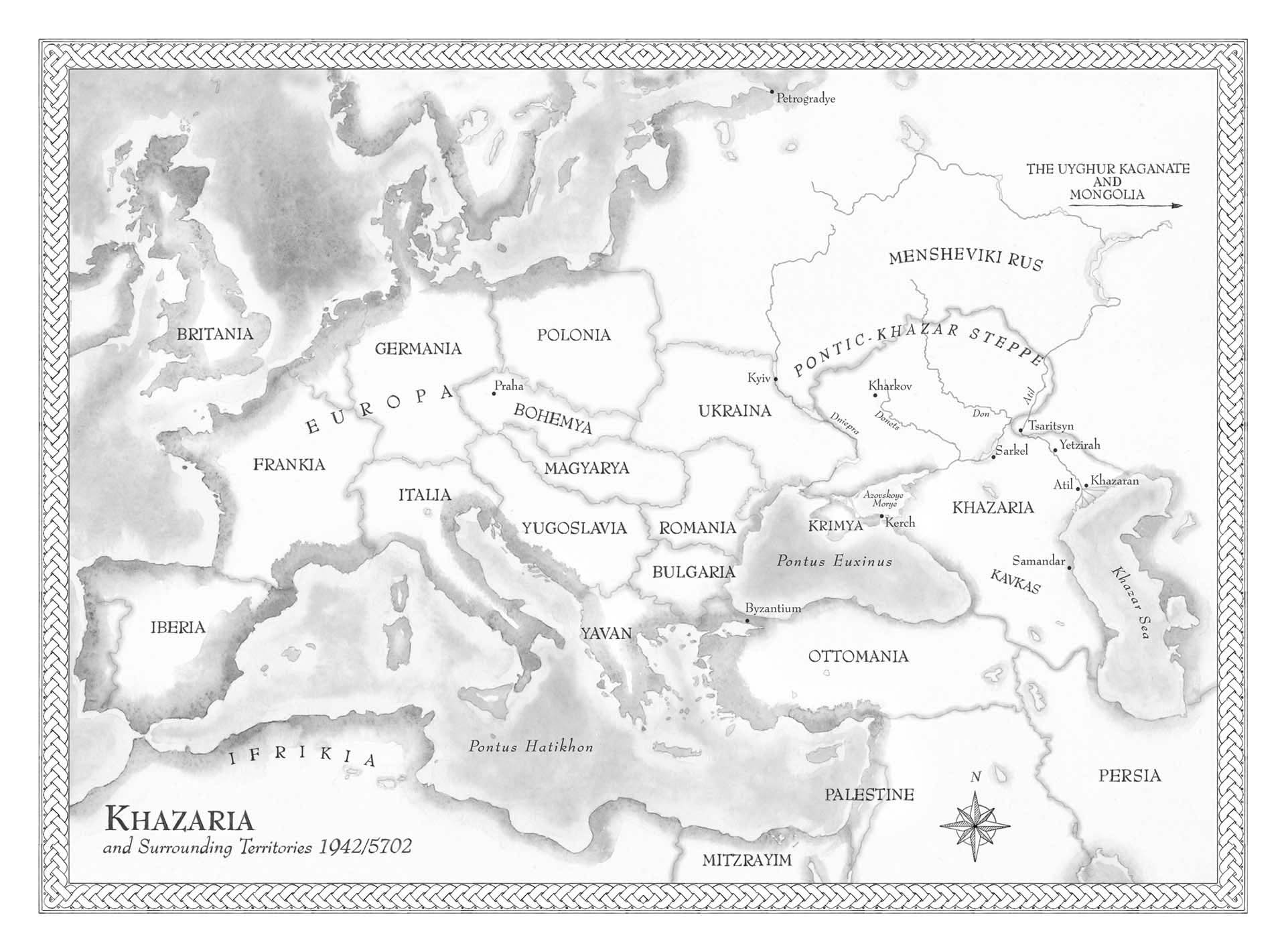Map of Khazaria book • The Crown Publishing Group